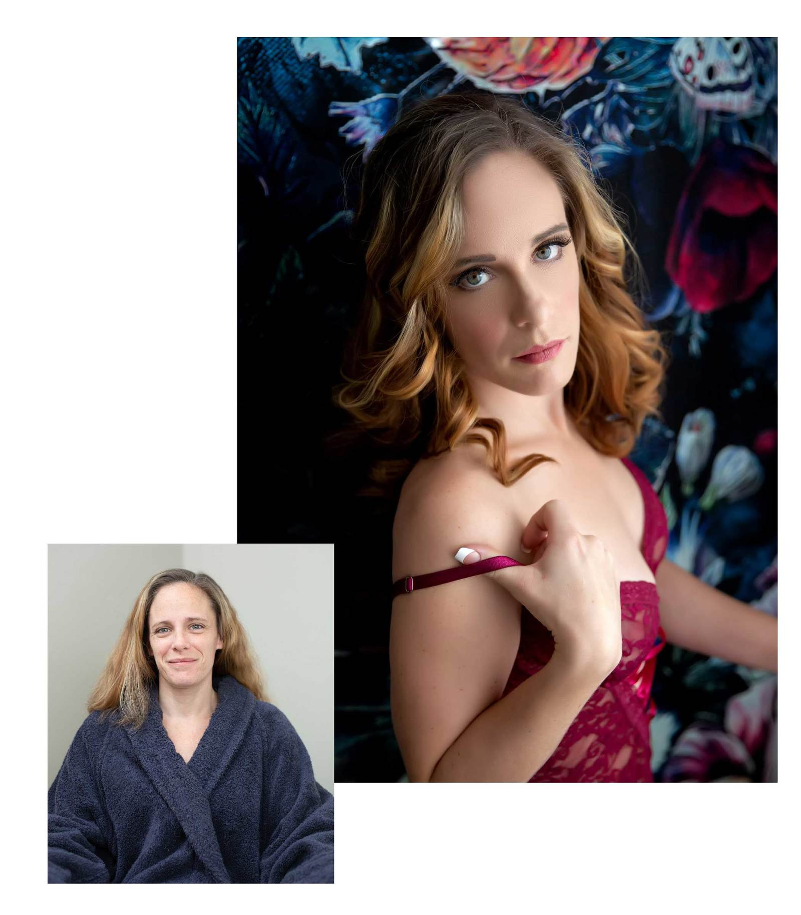 Before and After Hair and Makeup Transformation with Boudoir Defined